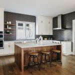 Kitchen Island in luxury kitchen
